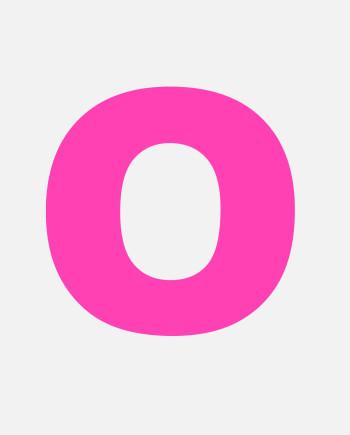 NEONNEID Buchstabe Neon Pink