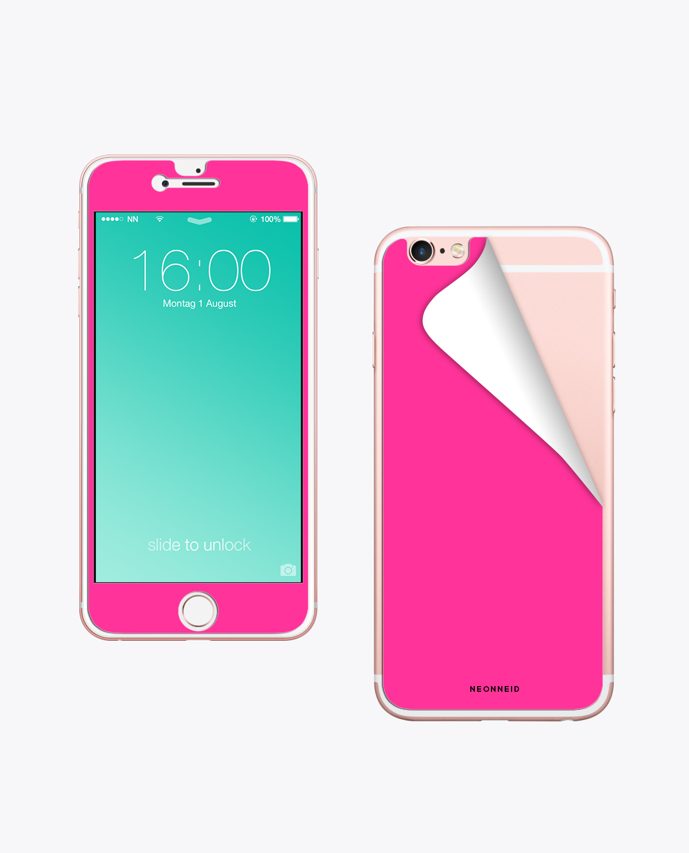 Handy Folie Neon Pink zum aufkleben