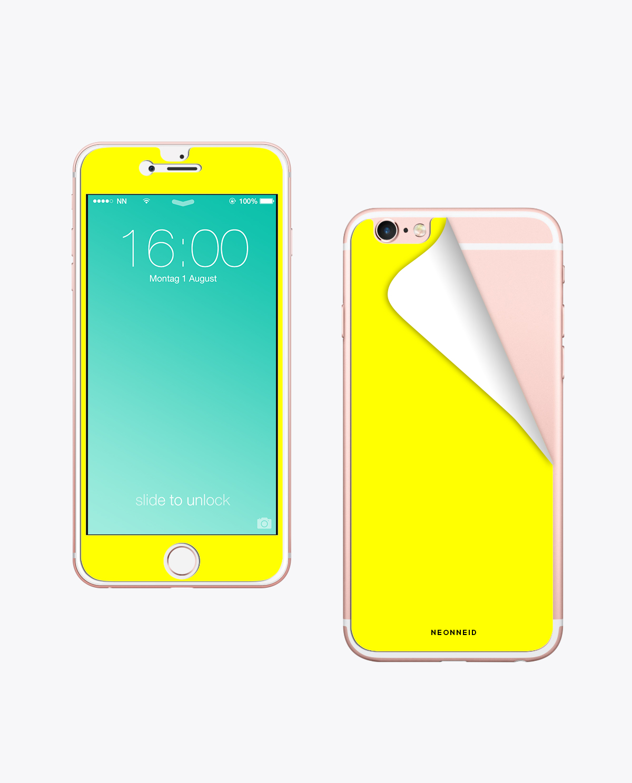 Handy Folie Neon Yellow zum aufkleben