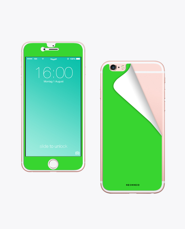 Handy Folie Neon Green zum aufkleben