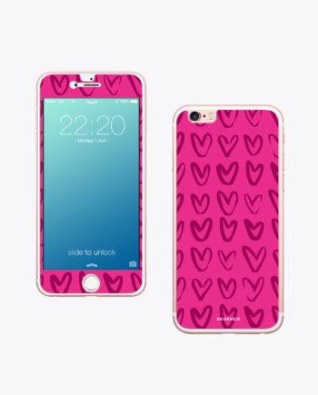 Handy Folie Pink Heart ist einzigartig.