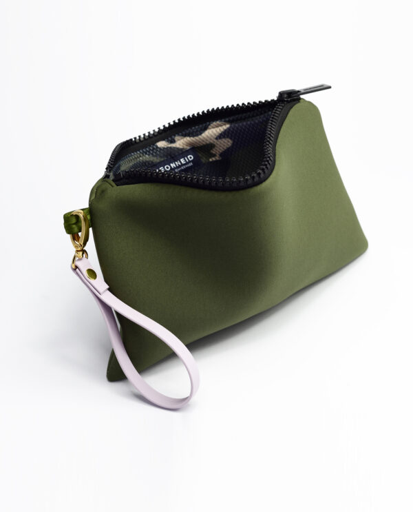 Neopren Clutch Navy Green